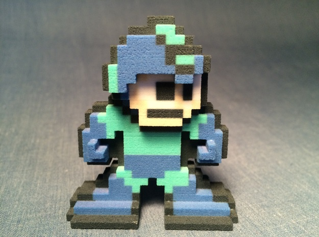 World of Nintendo Style 8-Bit Megaman Figure