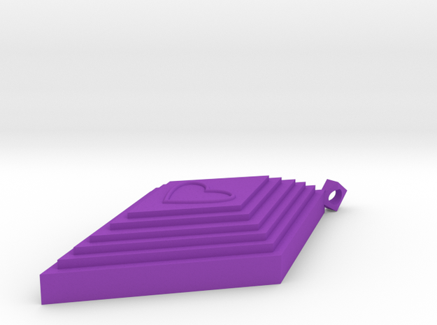 Diamond Pendant in Purple Processed Versatile Plastic