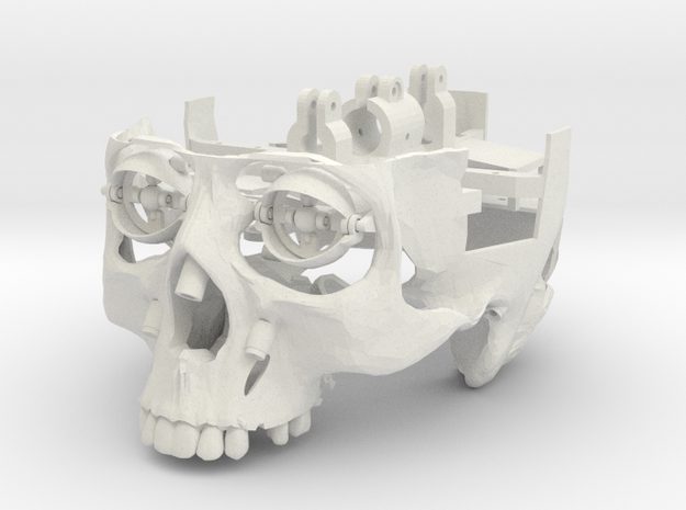 Skull EYES Only (No Jaw Or Skull Cap) in White Strong & Flexible