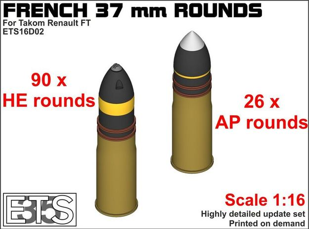 ETS16D02 - SA18 Rounds Set 2 (116 x) [1:16] in Frosted Ultra Detail