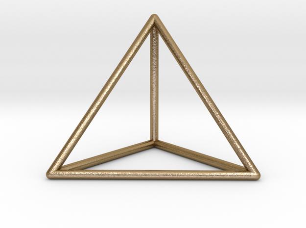 Prism Pendant in Polished Gold Steel