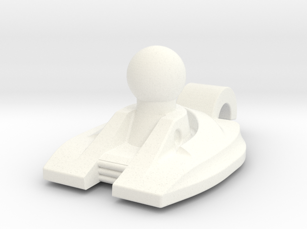 MP-Sized Windblade Neck in White Processed Versatile Plastic