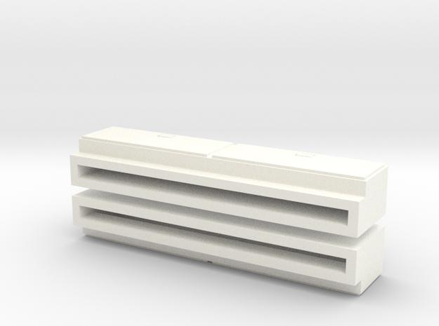 1/64 Side Tool Box - Ertl Pickups in White Processed Versatile Plastic
