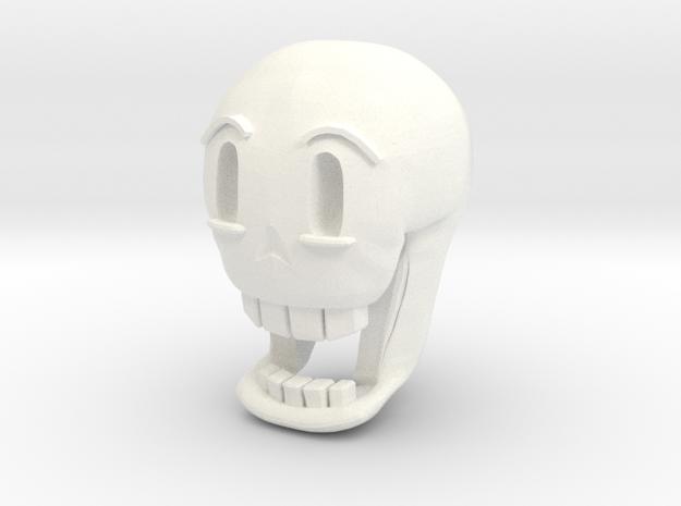 Custom Papyrus Inspired Head for Lego in White Processed Versatile Plastic
