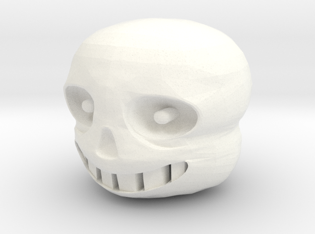 Custom Sans Inspired Head for Lego in White Processed Versatile Plastic