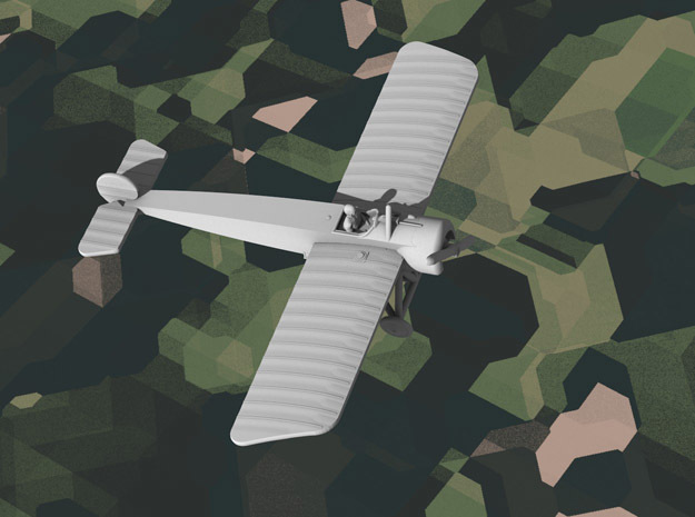 Fokker A.III in White Natural Versatile Plastic: 1:144