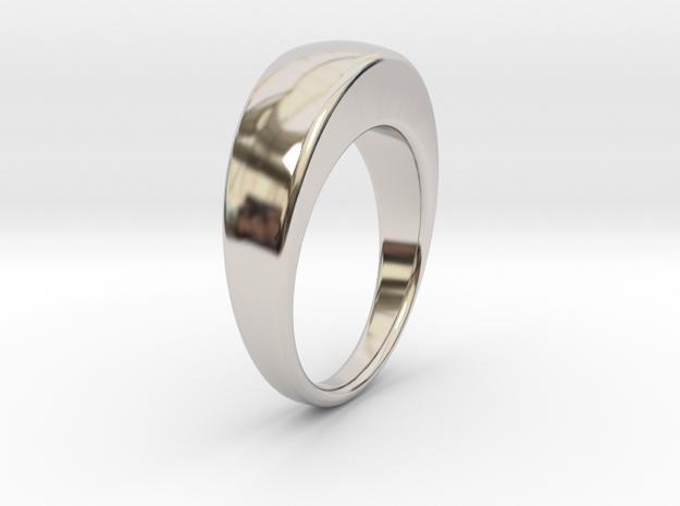 Ø19.51 Egg Ring/Ø0.768 inch in Rhodium Plated Brass