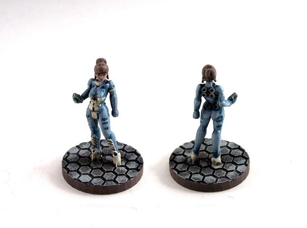 Alexandra Pryce, 28mm Miniature 3d printed