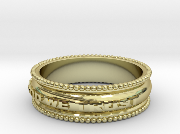 In God We Trust Band in 18k Gold Plated Brass