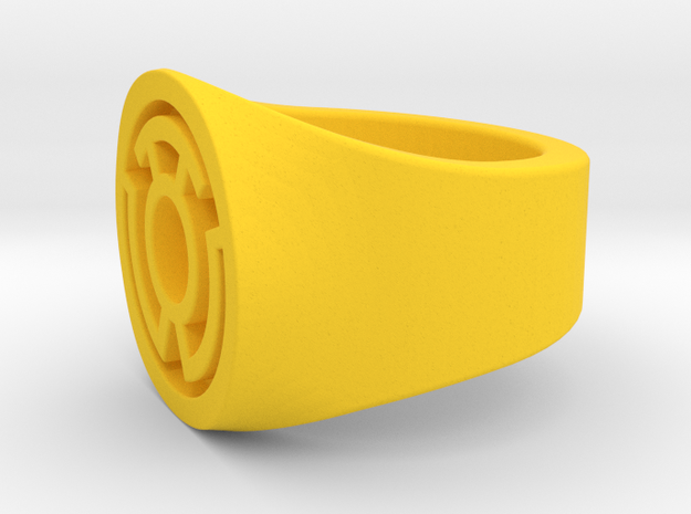 Yellow Lantern Ring S9.5   V2 in Yellow Strong & Flexible Polished: 9.5 / 60.25