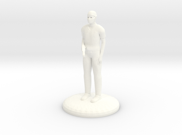 Doctor Bonesaw 25mm version in White Processed Versatile Plastic