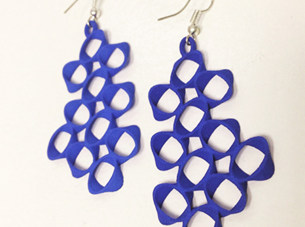 EARRINGS_Hyperloop_Large_Pair in Blue Strong & Flexible Polished