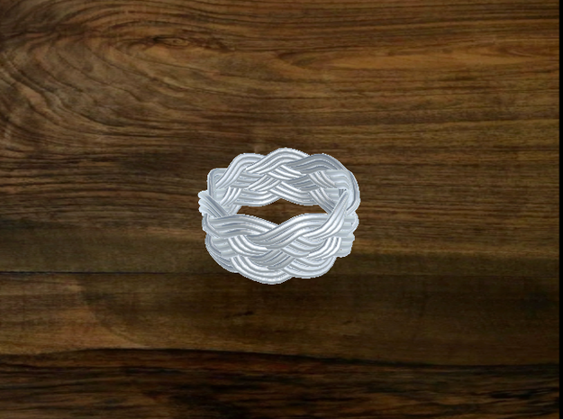 Turk's Head Knot Ring 5 Part X 9 Bight - Size 8 3d printed