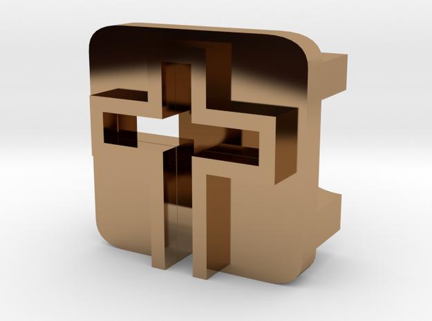 BandBit Cross for Fitbit Flex in Polished Brass