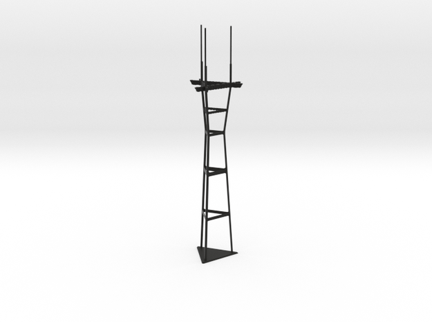 "7"" Mini Sutro Tower in Black Strong & Flexible"