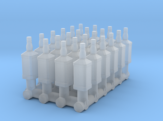 1:48 24 Whiskey Bottles in Smooth Fine Detail Plastic