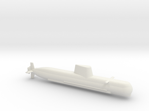 1/600 Son Won-Il (Type 214) Class Submarine in White Natural Versatile Plastic