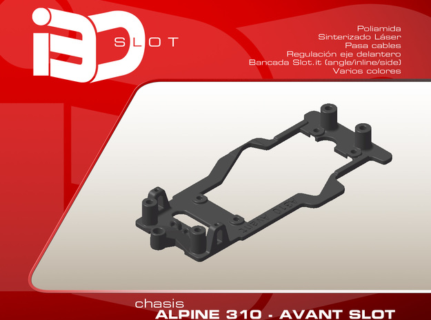 Chasis para Alpine A310 Avant Slot in White Strong & Flexible