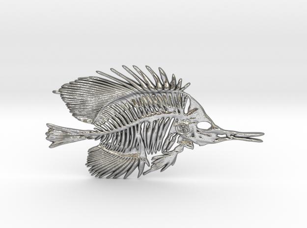 Butterfly Fish Skeleton Pendant