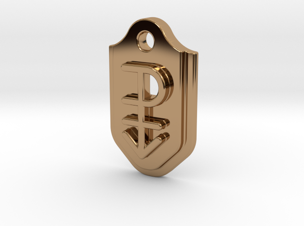 Pansexual Pendant - Embossed in Polished Brass