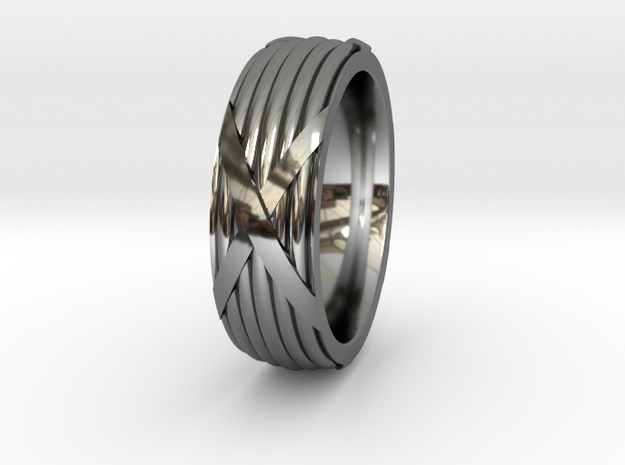 Fasces Ring - Size 12 in Premium Silver