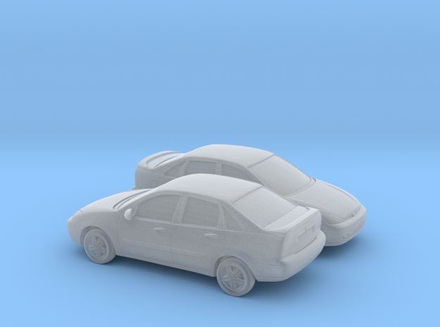 1/148 2X 2000-04 Ford Focus Sedan in Smooth Fine Detail Plastic