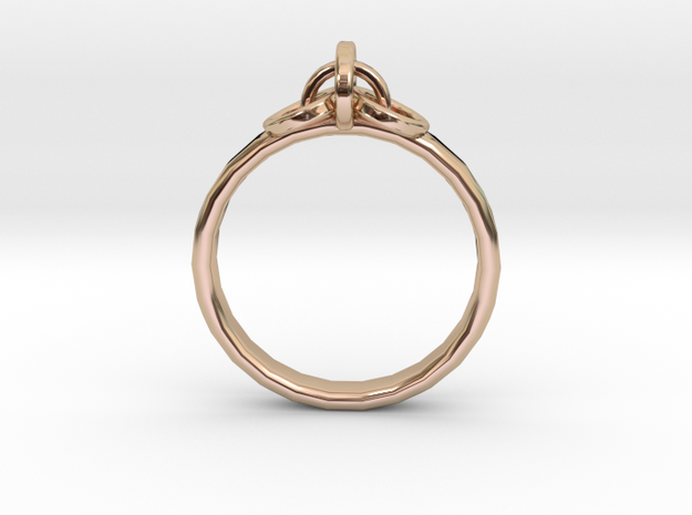 Ring for Joanne, Size H 1/2 in 14k Rose Gold Plated Brass