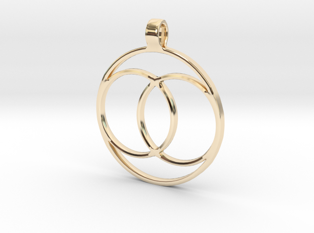 [The 100] (Small) Coalition Symbol Pendant in 14K Yellow Gold