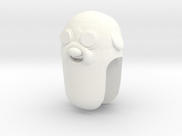 Custom Jake The Dog Inspired for Lego in White Processed Versatile Plastic