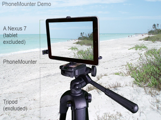 Samsung Galaxy Tab A & S Pen tripod mount in Black Strong & Flexible