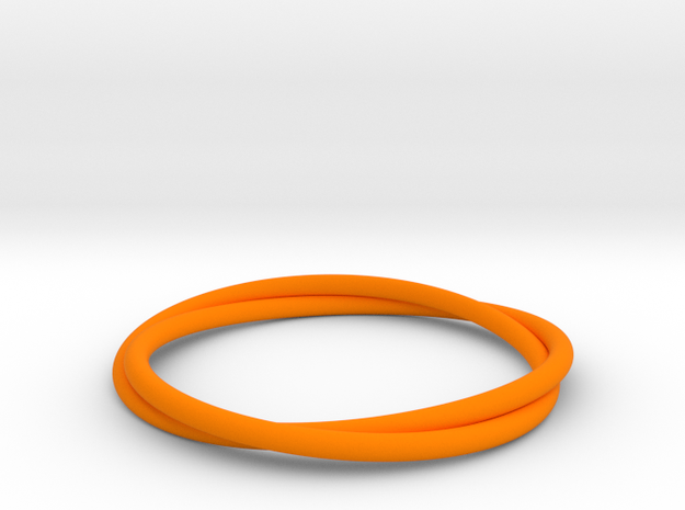 Bracelet Double in Orange Processed Versatile Plastic