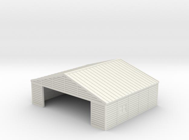 1:350  Wooden Hangar 1 in White Natural Versatile Plastic