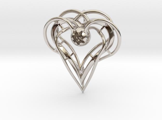 sisters Pendant (semi-precious metal) in Rhodium Plated Brass