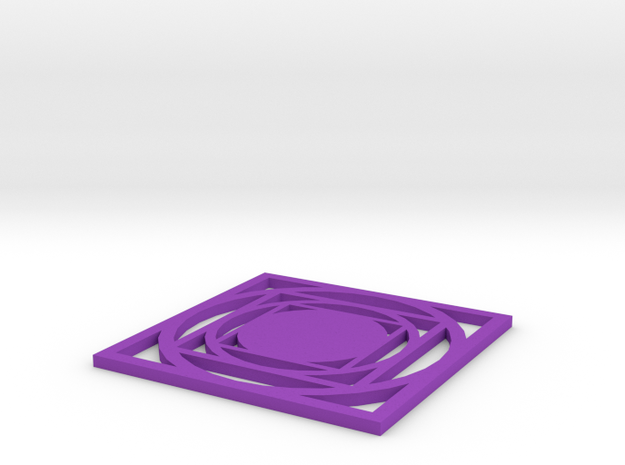 Coaster-geometrical in Purple Processed Versatile Plastic