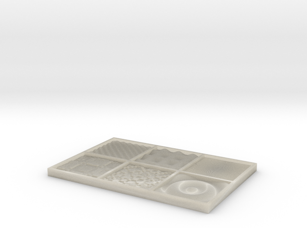 DRAW texture - test 3 3d printed