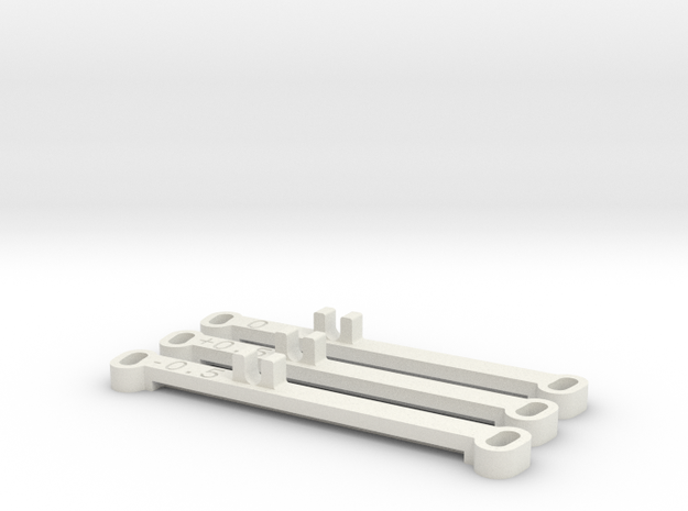 Kyosho MiniZ MR02 Toe Bars in White Strong & Flexible