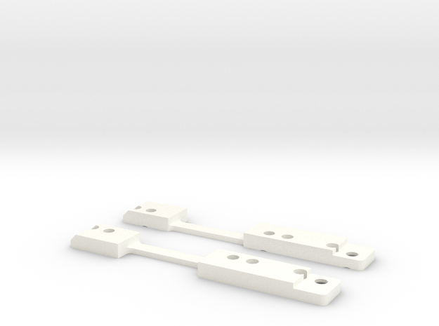 MiniZ F1 Lateral Links Soft in White Strong & Flexible Polished