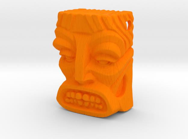 """Tiki Pendant """"Bob"""" in Orange Processed Versatile Plastic"""