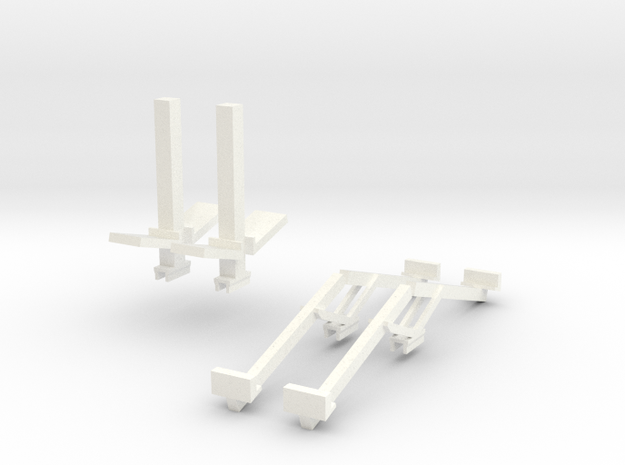 Befort Double header stands in White Strong & Flexible Polished