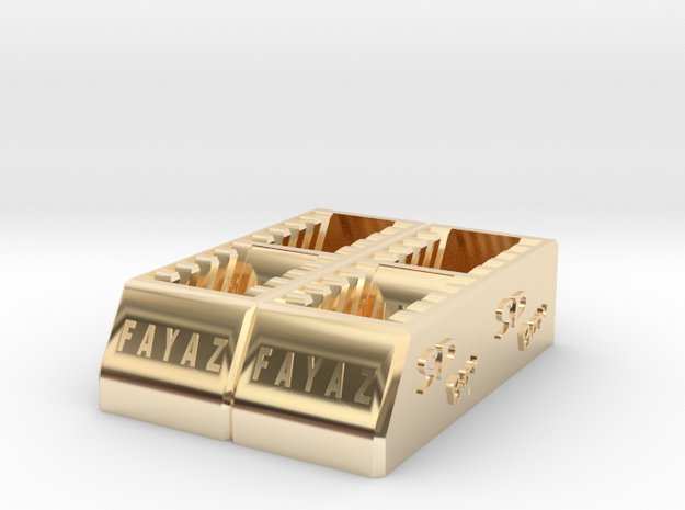 SD Card Holder that can hold 20 cards Sdcardhold20 in 14K Gold