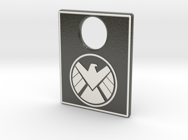 Pinball Plunger Plate - Avengers SHIELD in Glossy Full Color Sandstone