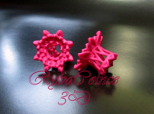 "The Chrysanthemums Plugs /gauge /size1/2""(12mm) in Pink Processed Versatile Plastic"