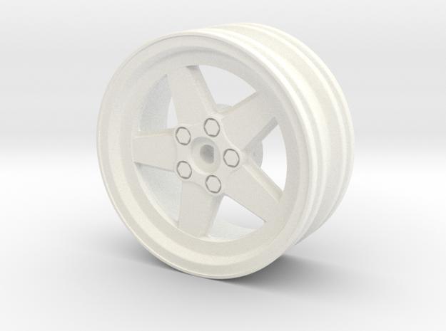 Ronal Race- + Driftrim in White Processed Versatile Plastic