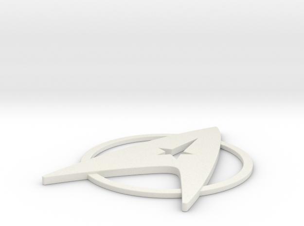 Starfleet Admiral's Insignia Pin (TMP era) in White Strong & Flexible