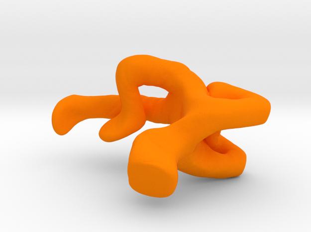 Double Elbow Applejack in Orange Processed Versatile Plastic