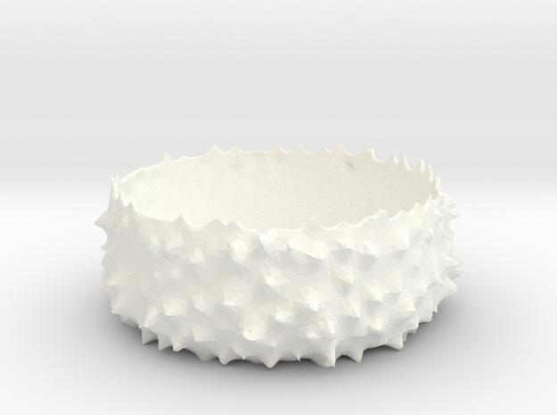 Spiky Bowl in White Processed Versatile Plastic