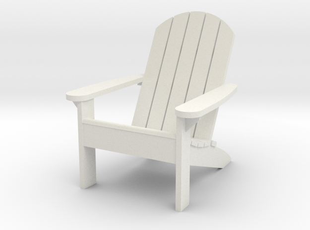 Camp Chair 1-12 (not full size) in White Natural Versatile Plastic