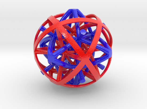 Dual half 24-cells colour 3d printed