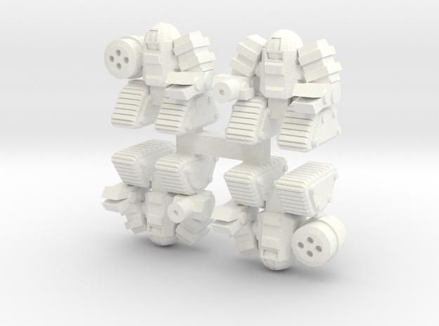 BobCat Infantry Crawler in White Processed Versatile Plastic