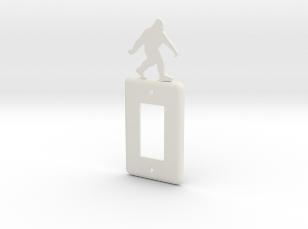 Sasquatch Light switch Cover in White Strong & Flexible